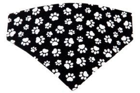 Halsbandtuch-Pfötchen-schwarz-weiß