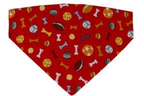 Halsbandtuch-rot-Knochen-Baseball