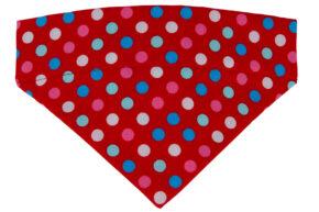 Halsbandtuch-rot-bunte-Punkte