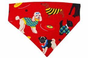 Halsbandtuch-Hunde-rot