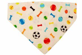 Halsbandtuch-Knochen-Fußball-beige