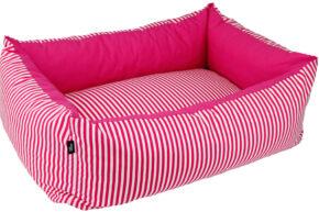 Hundebett-Streifen-Pink-4