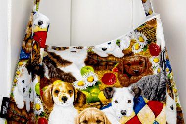 Stofftasche Hundewelpen